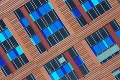 Colorful pattern of windows, Boston, Massachusetts, USA Royalty Free Stock Photography