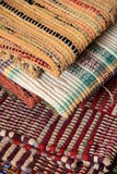 Colorful pattern of woven area rugs Royalty Free Stock Images
