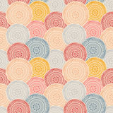 Colorful patterned circles, seamless background Stock Photos