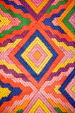 Colorful patterned textile stock photography