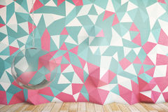Colorful patterned wall Royalty Free Stock Photography