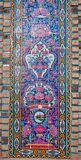 Colorful patterned wall with tiles of historical persian building in Iran Royalty Free Stock Image