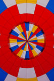 Colorful patterns of a hot air balloon Stock Images