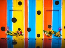 Colorful patterns on the wall Stock Photos