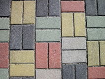 Colorful pavement abstract Royalty Free Stock Images