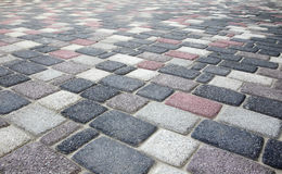 Colorful pavement in perspective background Royalty Free Stock Photo