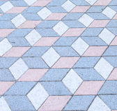 Colorful pavement texture Stock Photos