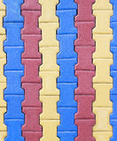 Colorful of Paving blocks Stock Photography