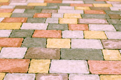 Colorful paving tile Stock Photography