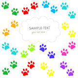Colorful Paw print pattern vector illustration wallpaper Royalty Free Stock Photo