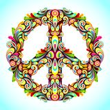 Colorful Peace royalty free illustration