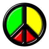 Colorful peace symbol Stock Photos