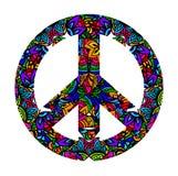 Colorful peace symbol Stock Photos
