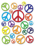 Colorful Peace Symbol on Texture Background Stock Images