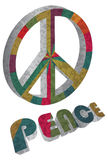 Colorful Peace Symbol on White Background Royalty Free Stock Images