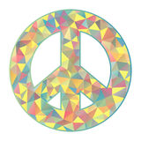 Colorful peace symbol on white background Royalty Free Stock Photography