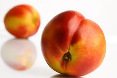 Colorful peach in close-ups Royalty Free Stock Photos