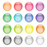 Colorful pearl like buttons Stock Images