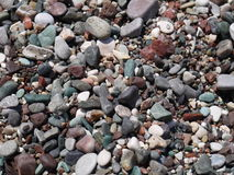 Colorful pebble on the sea beach.  Royalty Free Stock Images