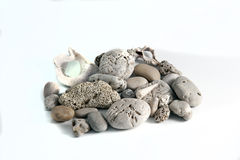 Colorful pebbles isolated. Photo of colorful pebbles isolated Royalty Free Stock Photography
