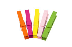 Colorful peg Stock Image