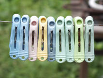 Colorful Peg. Colorful all peg blur background stock image