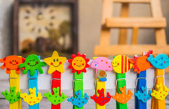 Colorful peg Royalty Free Stock Photography