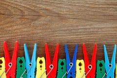 Colorful peg Stock Photo