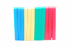 Colorful pegs Royalty Free Stock Image