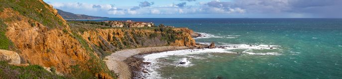Free Colorful Pelican Cove Panorama Royalty Free Stock Photo - 141208865