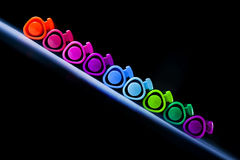 Colorful pen background Stock Photos