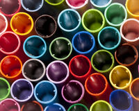 Colorful pen caps Stock Photo