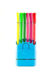 Colorful pen in a holder Royalty Free Stock Photography