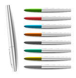Colorful pen illustration Royalty Free Stock Photos