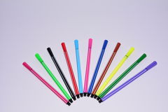 Colorful pen. The colorful pen made up a pattern, the picture is simple, the color is bright. It is a good business image to set aside enough space for the stock photography