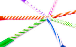 Colorful pen on white. Royalty Free Stock Photography