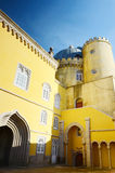 Colorful Pena National Palace. Palacio Nacional da Pena, Sintra, Portugal. Stock Photo