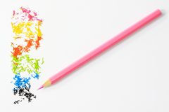 Colorful pencil. On a white background Royalty Free Stock Photo