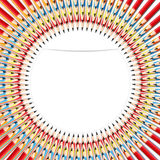 Colorful pencil. Abstract background colorful pencil by illustrations Royalty Free Stock Images