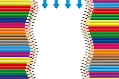 Colorful pencil. Backgrounds by illustrations Royalty Free Stock Images