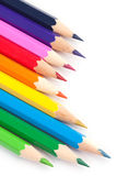 Colorful pencil. On white background royalty free stock photo