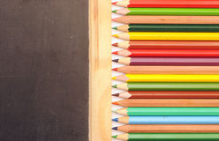 Colorful pencil border Royalty Free Stock Photography
