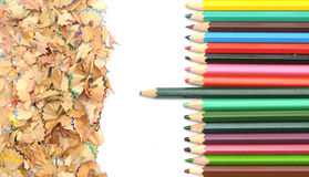 Colorful pencil border Stock Photo