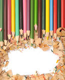 Colorful pencil border Stock Images