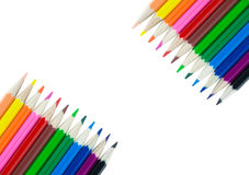 Colorful pencil color frame border background Stock Photography