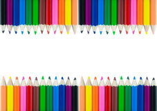 Colorful pencil color frame border background Stock Image