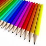 Colorful pencil composition Stock Photos
