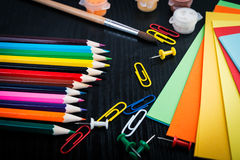 Colorful pencil crayons. Royalty Free Stock Photo