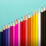 Colorful pencil crayons, Back to School concept Royalty Free Stock Image