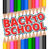 Colorful pencil crayons - Back To School Royalty Free Stock Photos